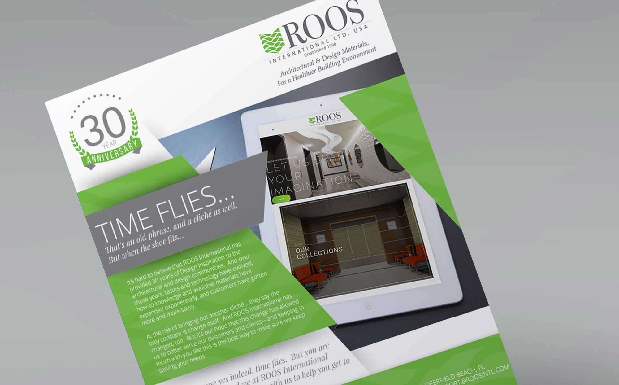 Roos International Email Creative